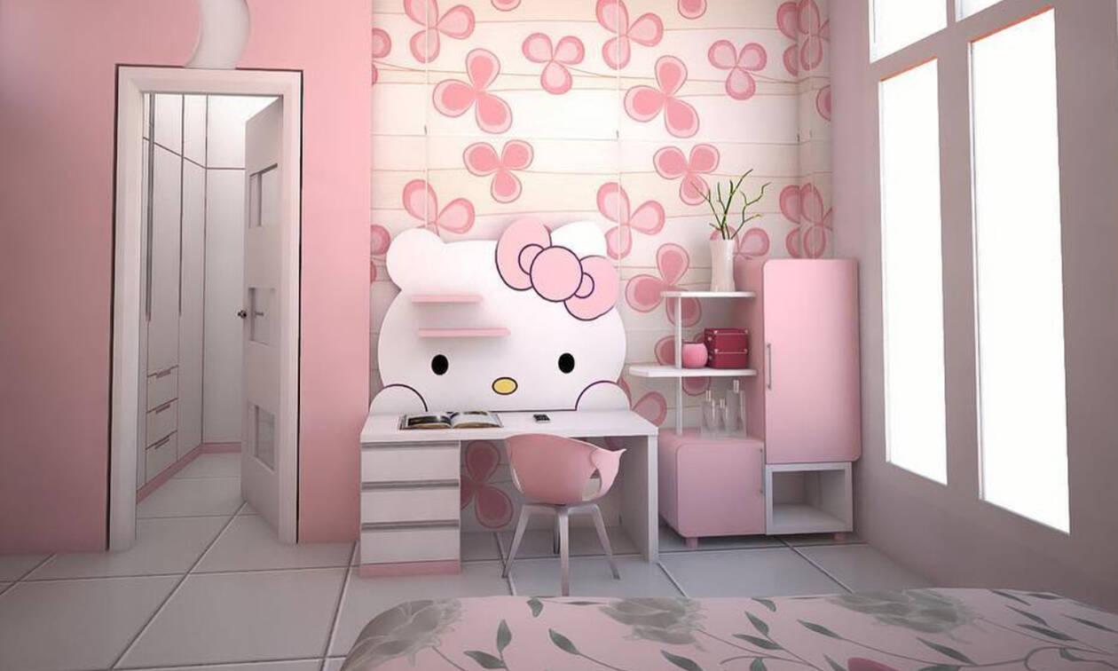 Hello Kitty: Είκοσι ιδέες διακόσμησης του παιδικού δωματίου με την πιο όμορφη γατούλα (pics +vid)
