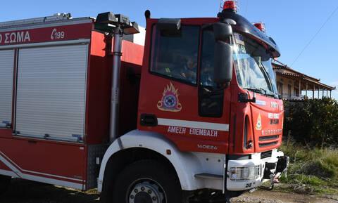 Συναγερμός στην πυροσβεστική: Φωτιά σε βιομηχανία επεξεργασίας μετάλλου στη Σίνδο (pics)