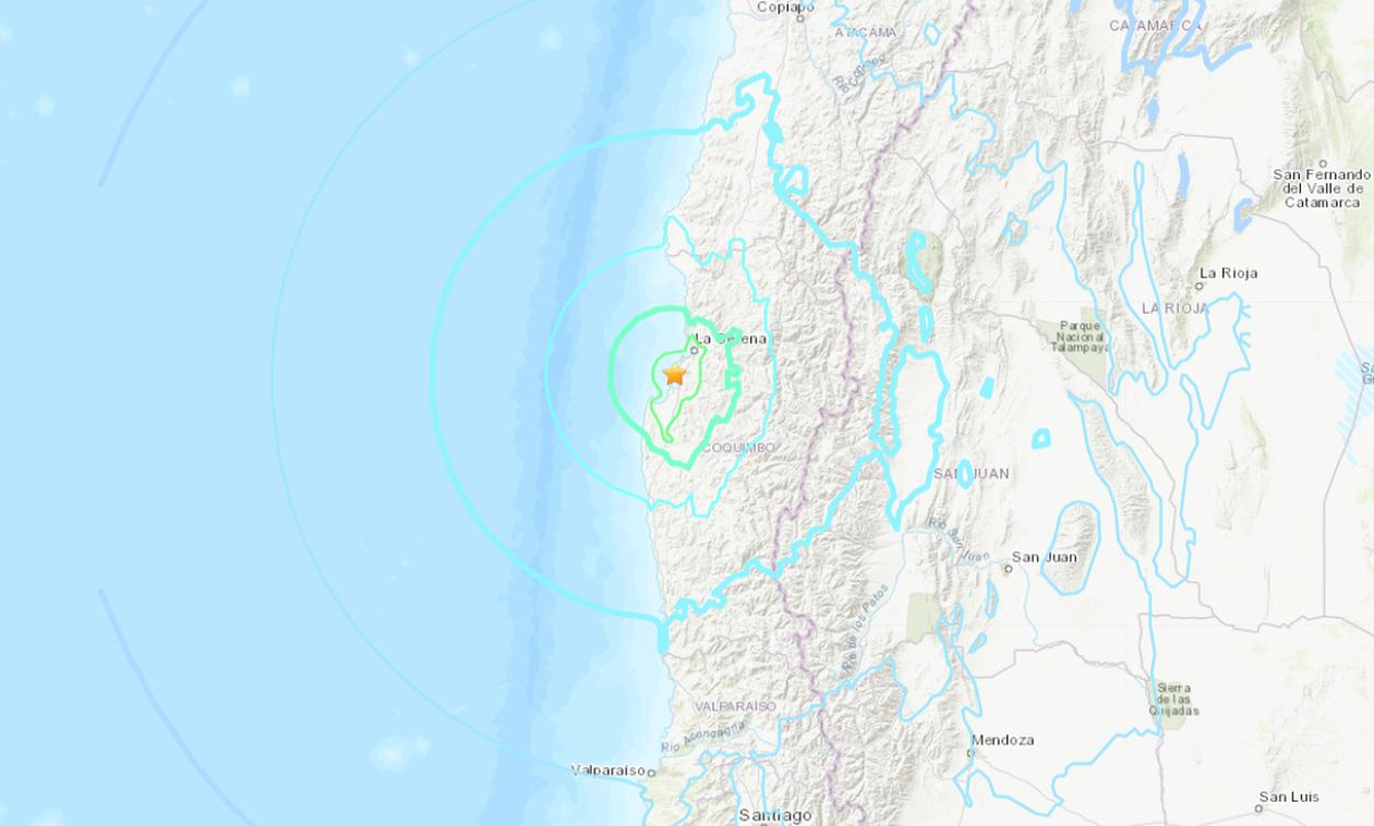 Ισχυρός σεισμός 6,7 Ρίχτερ στη Χιλή - Δεν υπάρχει απειλή για τσουνάμι