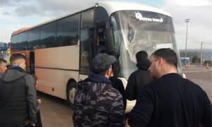 Συλλαλητήριο για τη Μακεδονία: Ατύχημα με λεωφορείο – Προσέκρουσε στα διόδια
