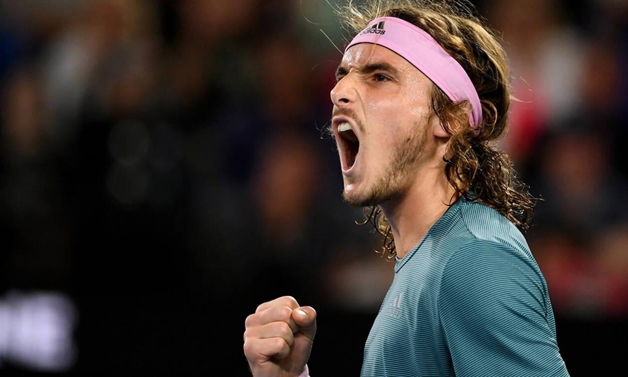 Θρίαμβος Τσιτσιπά στο Αυστραλιανό Open - Κέρδισε 3-1 σετ τον Φέντερερ (pics&vids)