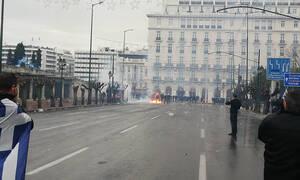 Συλλαλητήριο για Μακεδονία: Μωρό στο νοσοκομείο από τα χημικά στο Σύνταγμα