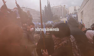 Injuries reported during tension in front of Greek parliament