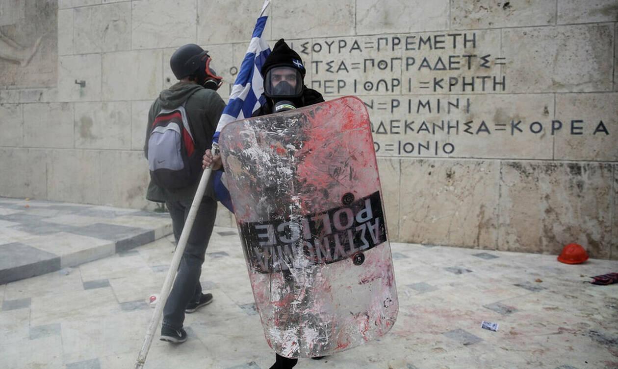 В Афинах проходит многотысячная акция протеста против соглашения о смене названия Скопье