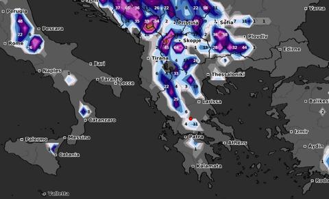 Καιρός: Πού θα χιονίσει τα επόμενα 24ωρα; Καρέ - καρέ ο χάρτης χιονοκάλυψης της Ελλάδας (video)