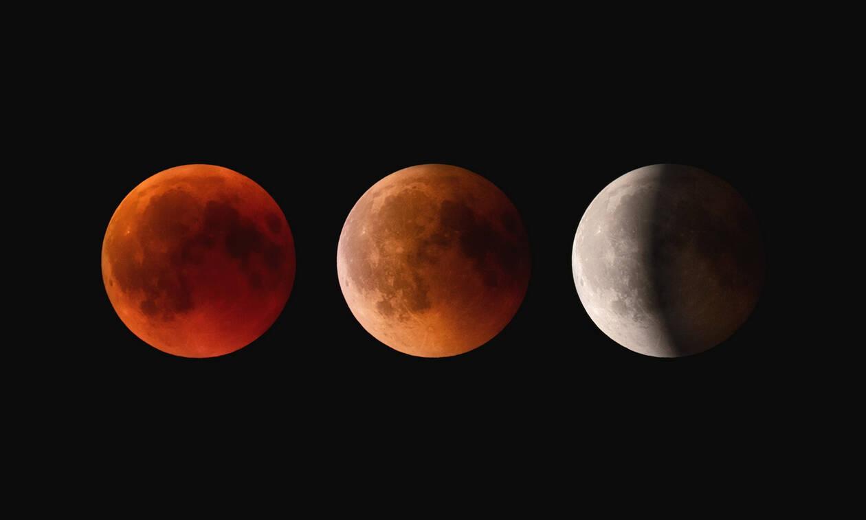 Ολική έκλειψη Σελήνης και υπερπανσέληνος: Δείτε το μαγευτικό φαινόμενο