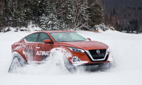 Παγκόσμιο ντεμπούτο για το ερπυστριοφόρο Nissan Altima-te AWD στον Καναδά (Video)