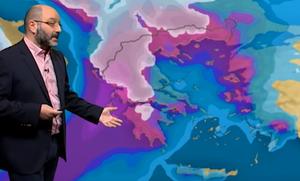 Προσοχή τις επόμενες ώρες! Ο Σάκης Αρναούτογλου προειδοποιεί για την εξέλιξη του καιρού (video)