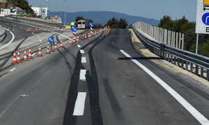 Θεσσαλονίκη: Διακοπή κυκλοφορίας σε τμήμα της Εθνικής Οδού Θεσσαλονίκης-Μουδανιών