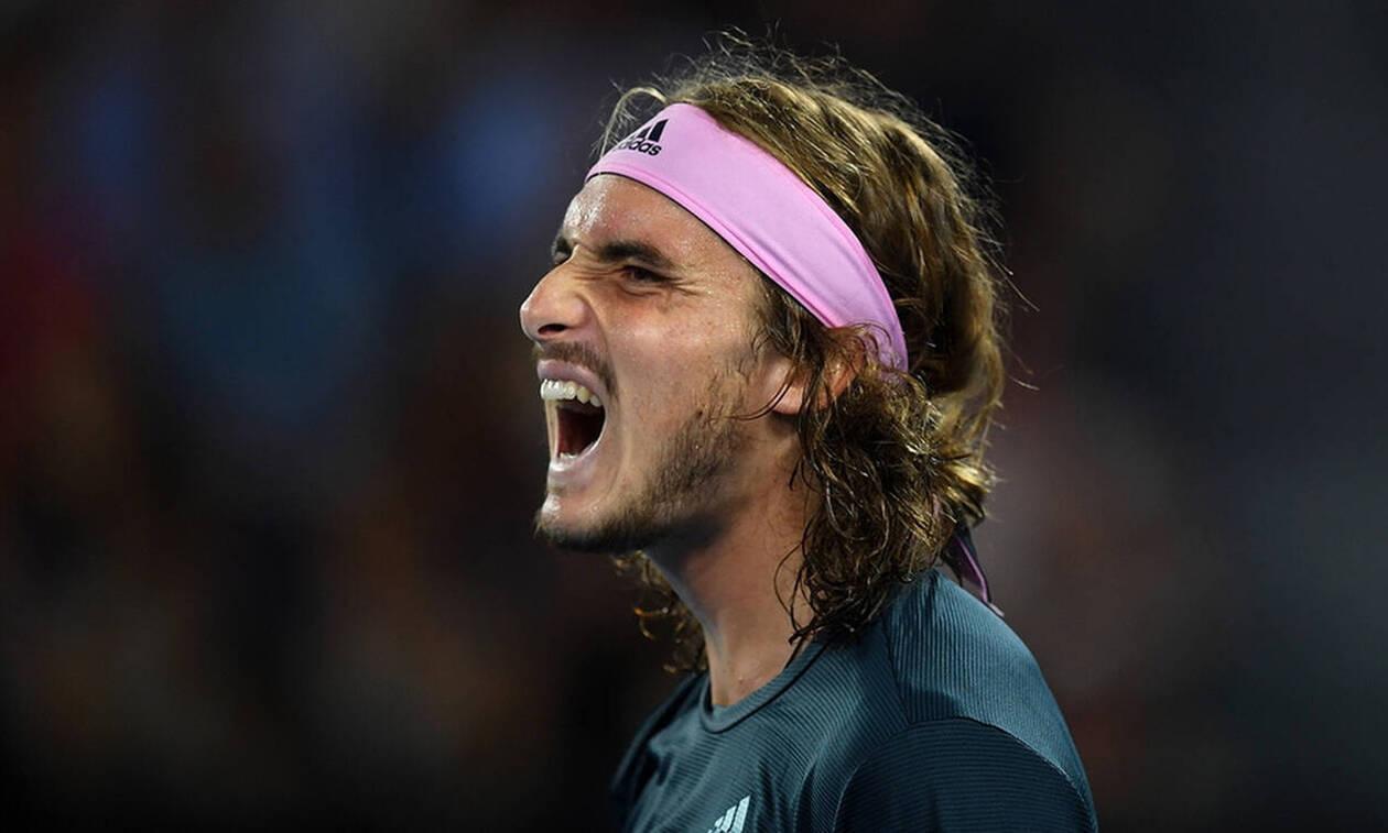 Греческий теннисист Стефанос Циципас не смог обыграть испанца Рафаэля Надаля