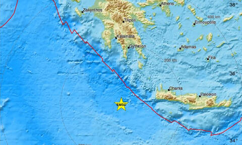 Σεισμός ΤΩΡΑ: Διπλή σεισμική δόνηση δυτικά της Κρήτης (pics)