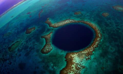 Αποκάλυψη! Μάθετε τι βρίσκεται στον πάτο της διάσημης «Μεγάλης Μπλε τρύπας» (photos+video)