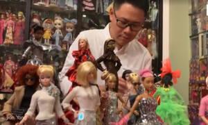 Φανατικός της Barbie έχει συλλογή από 12.000 κούκλες! (vid)