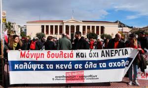 Διαμαρτυρία αναπληρωτών εκπαιδευτικών στην Αθήνα (pics)