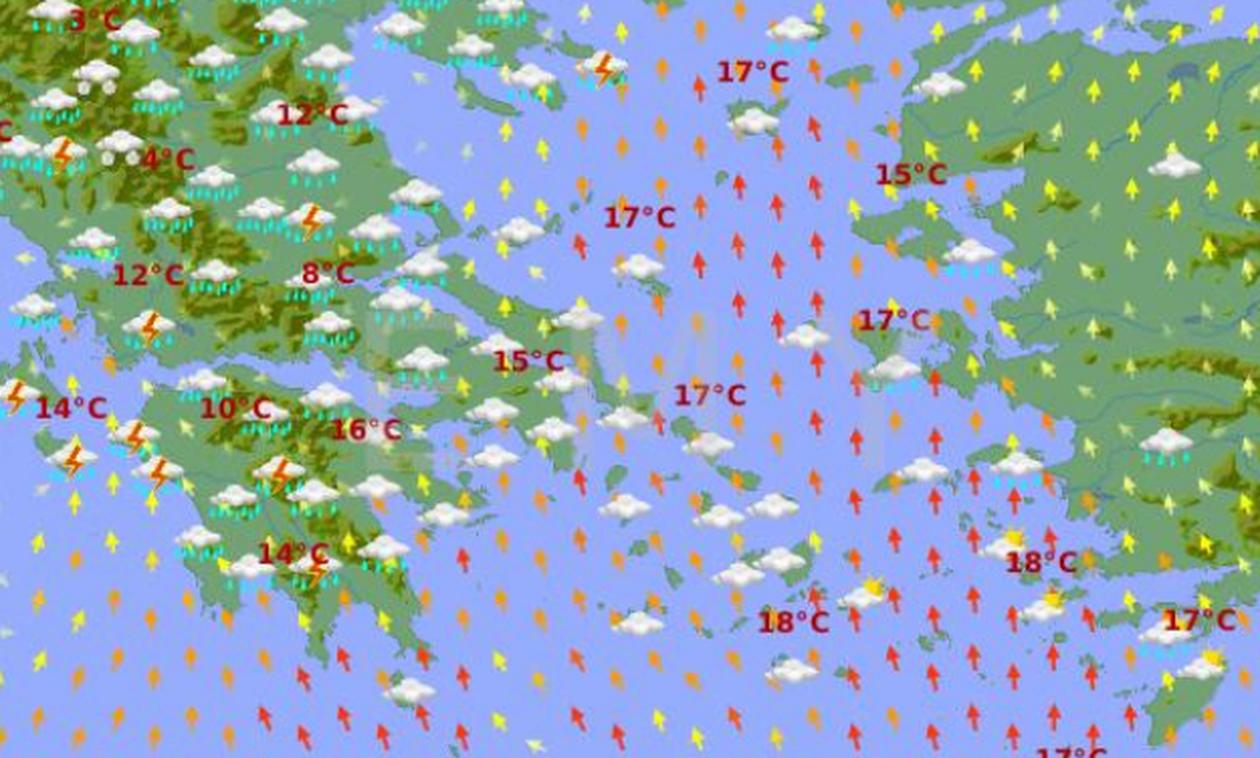 Καιρός: Νέα επιδείνωση από τη Δευτέρα. Ξανά καταιγίδες και πυκνές χιονοπτώσεις...