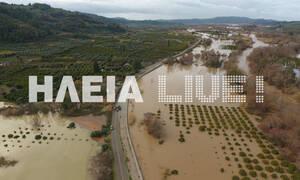 Βυθίστηκε στη λάσπη η Ηλεία: Καταστροφές και προβλήματα - «Λίμνη» ο κάμπος του Αλφειού (pics&vid)