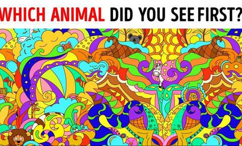 Ποιο ζώο είδες πρώτο στην εικόνα; Δες τι δείχνει για την προσωπικότητά σου! (video)