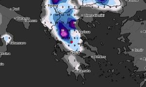 Καιρός: Ψυχρή εισβολή μετά τις 5 Φλεβάρη. Δείτε καρέ-καρέ την εξέλιξη των χιονοπτώσεων (video)