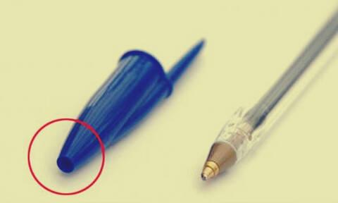 Εσύ ήξερες γιατί υπάρχει τρύπα στο καπάκι του στυλό;