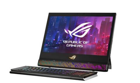Ένα laptop για gaming που έχει αποσπώμενο πληκτρολόγιο