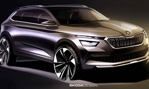 Skoda Kamiq: τα πρώτα σκίτσα του νέου μικρού SUV