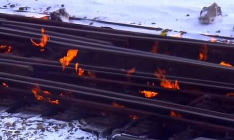 Οι ράγες του Σικάγο πήραν… φωτιά (vid)