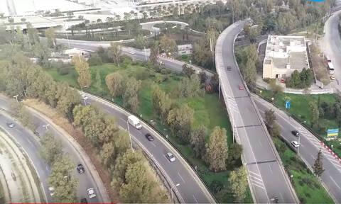 Εντυπωσιακό βίντεο από drone: Δείτε τη νέα λεωφόρο Ποσειδώνος από ψηλά