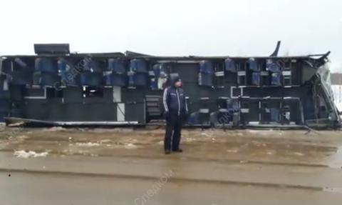 Полиция задержала водителя автобуса, попавшего в ДТП под Калугой