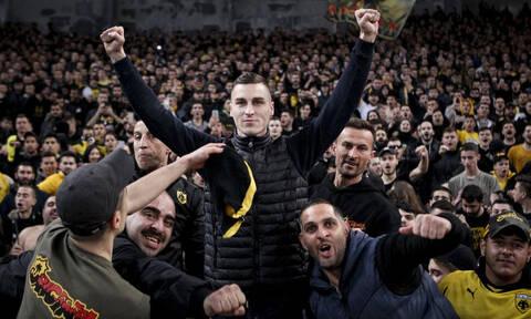 ΑΕΚ-ΠΑΟΚ: Με τους οργανωμένους οπαδούς της Ένωσης ο Όγκνιεν Βράνιες (videos+photos)