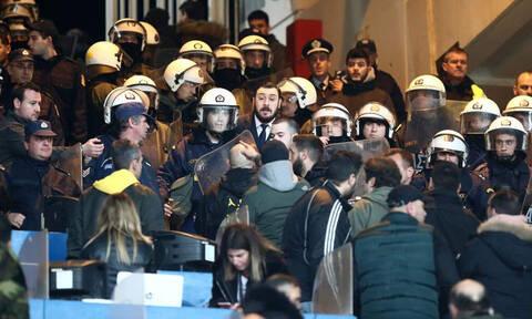 ΑΕΚ-ΠΑΟΚ: Σοβαρά επεισόδια στο ΟΑΚΑ, την έπεσαν στον Σαββίδη! (photos)