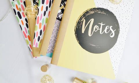 DIY: Πώς θα μεταμορφώσεις τα τετράδια ή σημειωματάρια