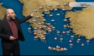 Καιρός: «Προσοχή το επόμενο 24ωρο»... Η προειδοποίηση του Σάκη Αρναούτογλου (video)