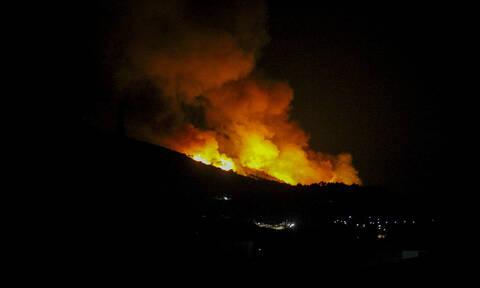 Φωτιά στην Ηλεία: Σε ύφεση η πυρκαγιά που εκδηλώθηκε κοντά στη λίμνη Καϊάφα