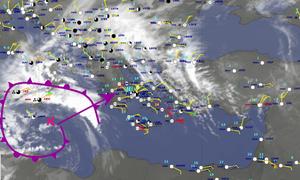Καιρός: Πλησιάζει την Ελλάδα το βαρομετρικό χαμηλό με τα ακραία φαινόμενα. Εκτακτο δελτίο της ΕΜΥ...