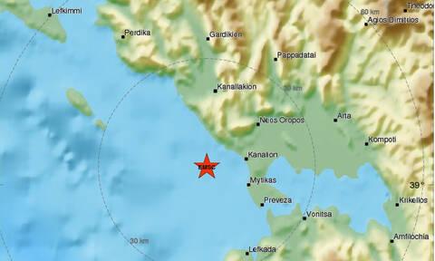 В Превезе произошло землетрясение магнитудой 5,2 балла