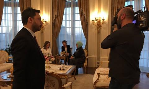 To tweet της Εμινέ Ερντογάν για τη σύζυγο του Τσίπρα: «Η λατρευτή Μπέτυ Μπάζιανα»