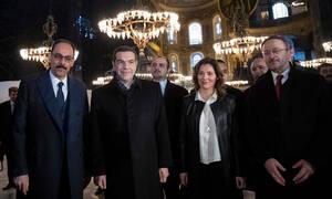 Επίσκεψη Τσίπρα στην Τουρκία: Στην Αγιά Σοφιά ο Έλληνας πρωθυπουργός (pics+vid)