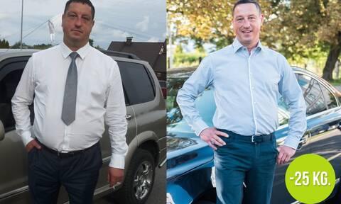 Ακολουθώντας αυτή την ασυνήθιστη συμβουλή, ένας άνδρας χάνει 25 επιπλέον κιλά!