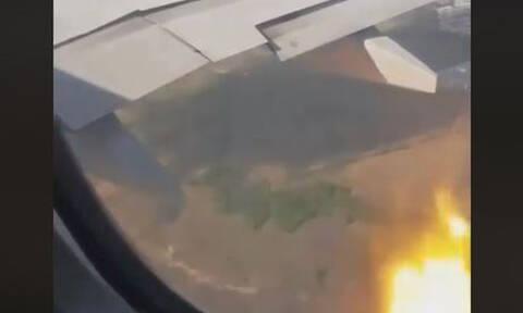 Τρόμος στον αέρα: Αναγκαστική προσγείωση αεροπλάνου έπειτα από φωτιά στον κινητήρα (vid)
