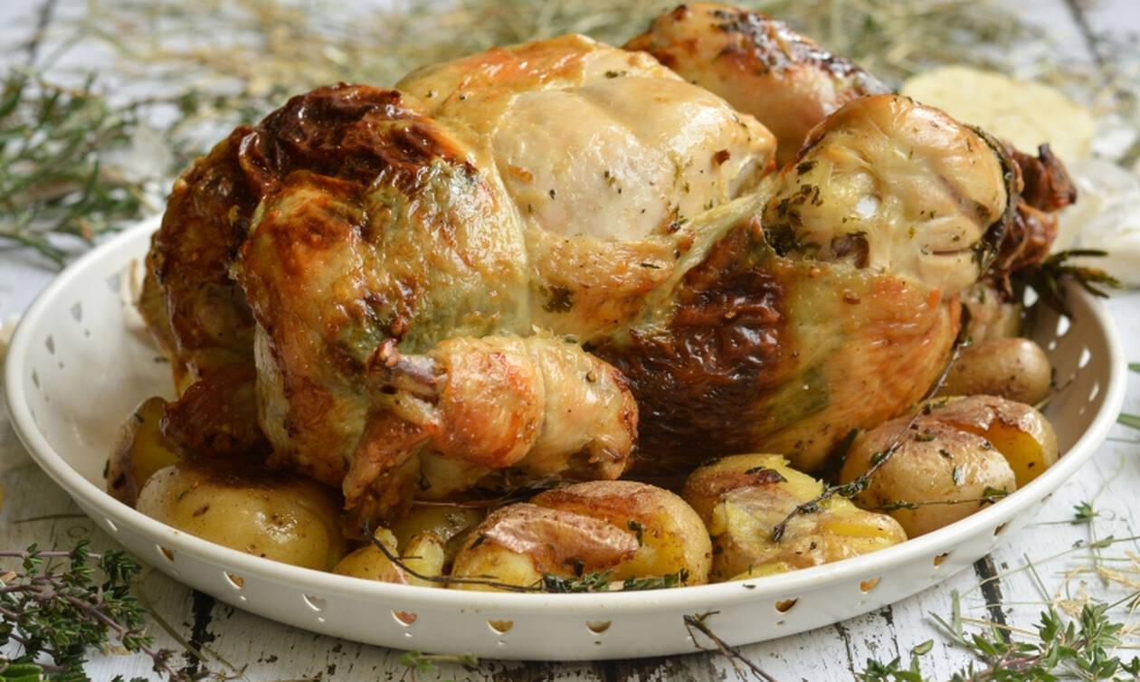 Η συνταγή της ημέρας: Κοτόπουλο γεμιστό με τυριά