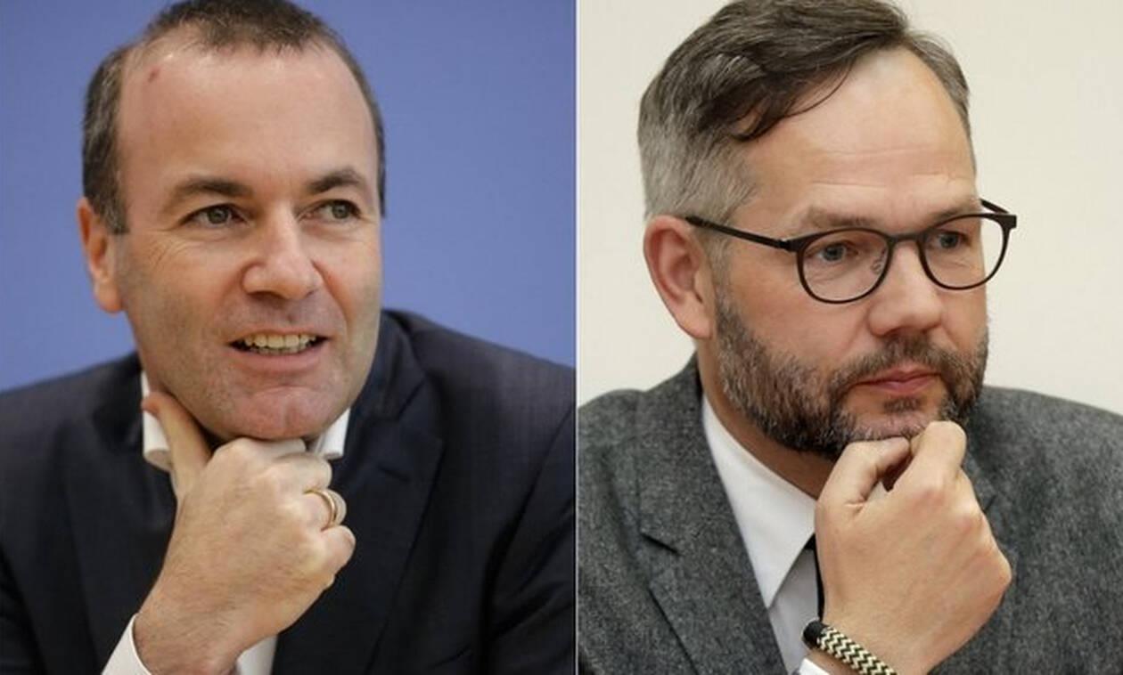 Немецкие политики Михаэль Рот и Манфред Вебер пребывают в Афинах с рабочей поездкой