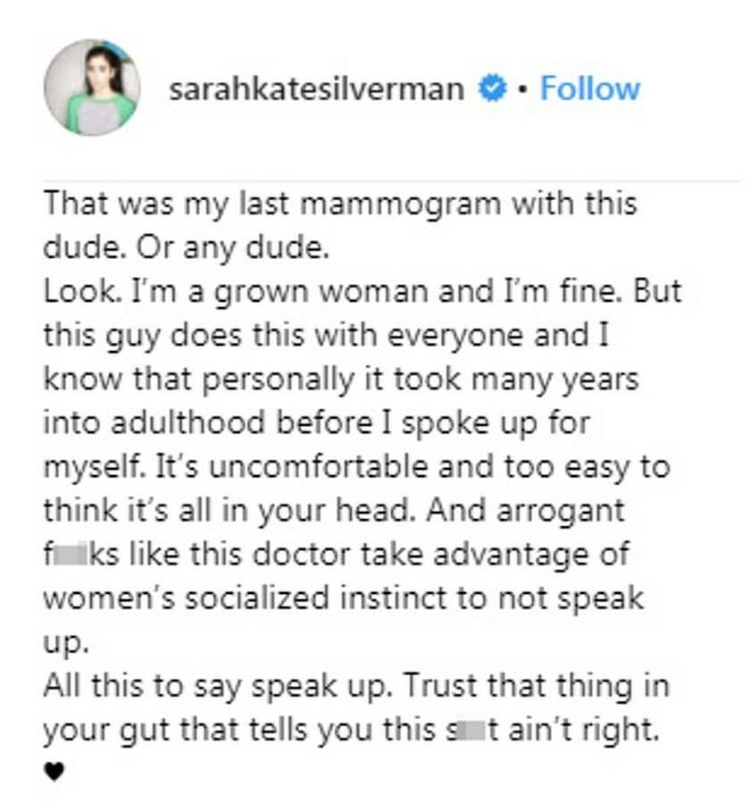 Θύμα παρενόχλησης η Sarah Silverman