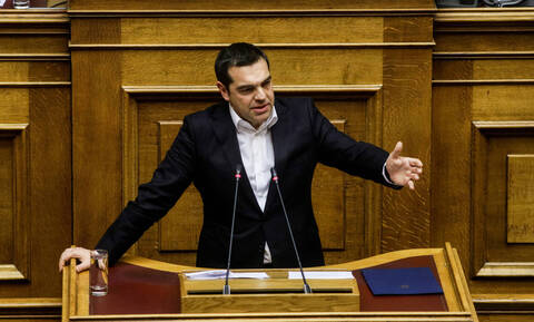 PM Tsipras in parliament: Elections will occur at the end of the four-year term