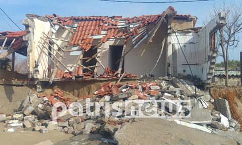 Ηλεία: «Εξαφανίζονται» σπίτια στην παραλία της Σπιάτζας (pics)