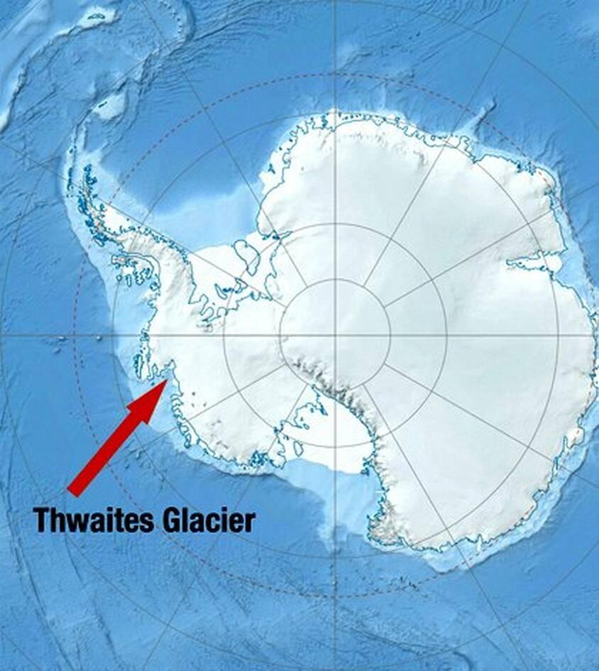 Ο τεράστιος παγετώντας Thwaites λιώνει