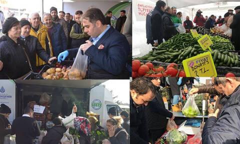 Εκεί κατάντησε τους Τούρκους ο Ερντογάν: «Πόλεμος» στις λαϊκές για μια φθηνή ντομάτα (Pics+Vids)