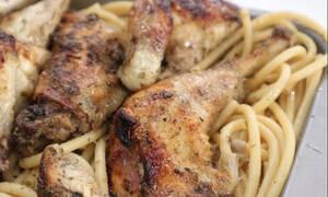Η συνταγή της ημέρας: Κοτόπουλο ριγανάτο με χοντρά μακαρόνια