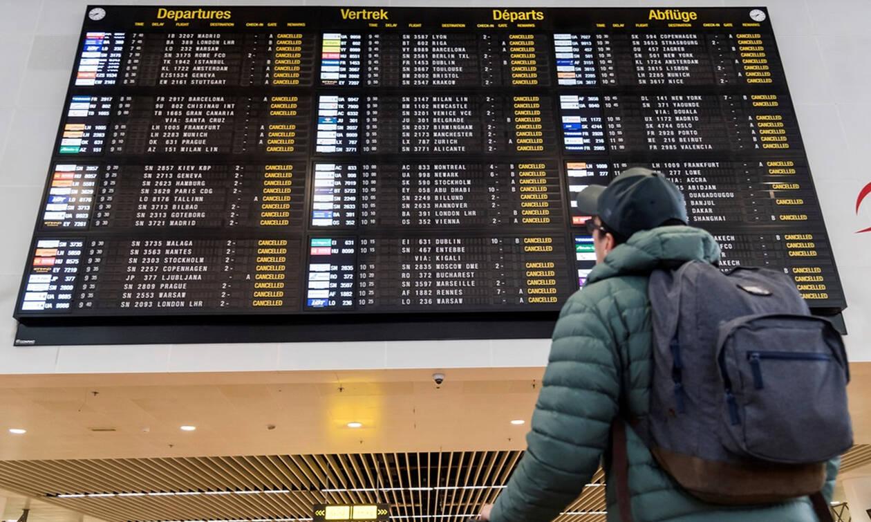 «Παραλύει» το Βέλγιο: Ακυρώνονται όλες οι πτήσεις από και προς τη χώρα για 24 ώρες