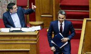 Μητσοτάκης: Ευτυχώς δεν ζήτησες το ΑΦΜ του Παυλόπουλου - Τσίπρας: Πιάστηκες με τη γίδα στην πλάτη