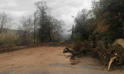 Σφοδρή κακοκαιρία στην Κρήτη: Υποχώρησε γέφυρα (pics)